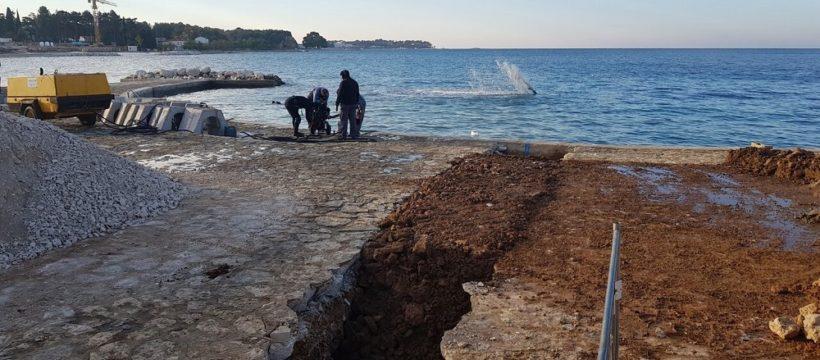 Radovi havarijski ispust Materada